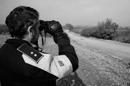 Bild eine Frontex-Grenzschützers